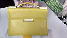 Sac original cuir Mandarina Duck vert anis porté main ou épaule TBE