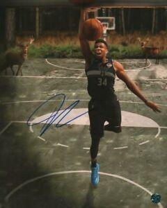 "Giannis Antetokounmpo ""Greek Freak"" Signed COA Photo (NBA) Basketball Player"