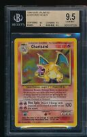 BGS 9.5 CHARIZARD 1999 Pokemon Base #4/102 Holo Rare (PSA 10 Potent) GEM MINT
