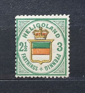 Altdeutschland HELGOLAND(Heligoland) 1876 Mi.17b - Mint Hinged* - 180€