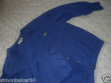 LACOSTE  GILET   LAINE  BLEU  ROI    TAILLE   4   PAYPAL  CHEQUE