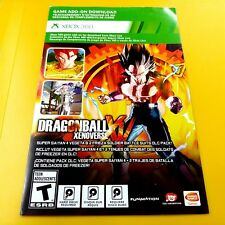 DRAGONBALL XENOVERSE SUPER SAIYAN  VEGETA XBOX 360 DLC ADD-ON GAME CONTENT #54