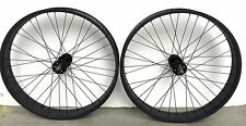 "Micargi 29"" x 80mm Rear & Front Bicycle Fat Wheel 7 speed 36 spokes Disc Black"