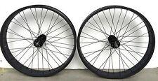 "New Fat 26"" x 4.0 Rear & Front Bicycle Wheel 7 speed 36 spokes Disc Brake Black"