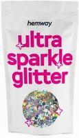 Hemway Silver Holographic Glitter Chunky Mix Large Multi Dance Costume Festival