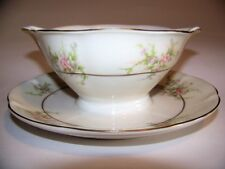 Theodore Havilland New York Rosalinde Gravy Boat with Attached Drip Plate