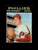 1971 Topps Baseball #323 Billy Champion (Phillies) EXMT