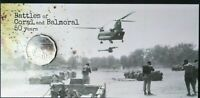2018 50 Cents 1968 VIETNAM WAR Battles of Coral&Balmoral Choice UNC on RAM Card