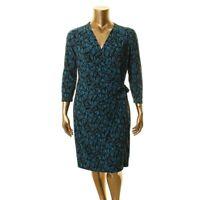ANNE KLEIN Women's Josephine Printed Faux Wrap Dress TEDO
