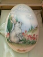 Noritake 1993 Collectible Hillside Bunny Easter Egg in Box with Sleeve and COA