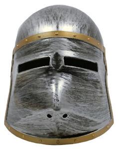 Ritter Helm mit klappbarem Visier für Kinder - Ritterspiele, Burgfest, Fasching