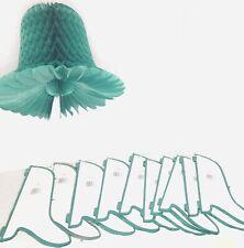 "11 Beistle Honeycomb Art Tissue Westminster  Wedding Bells - Dark Green 15"" NEW"