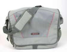 Targus Messenger Laptop Case Shoulder Bag Gray Pink Crossbody Book Bag Backpack