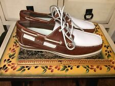 Impulse Shoes Mens Size 9M Sport Culture Brown -white leather casual Lace Up