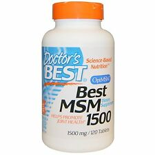 Best MSM 1500mg 120 Tablets Promotes Joint Comfort Doctor's Best Free Shipping