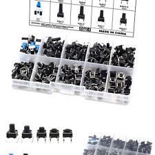 Ocr 180pcs Tactile Push Button Switch 10 Values 6x6mm Micro Momentary Tact Bu