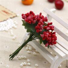 12*/bouquet Artificial Flower Stamen Wire Stem/Marriage DIY Wreath Wedding Decor