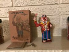 TIN TOY CLOWN DANDY TIPS HAT Toy clockwork Mechanism NEW