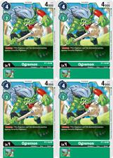 Digimon Card Game 4x Ogremon BT1-069 Common Playset