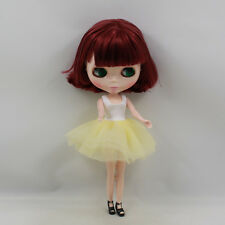 """Takara 12"""" Nude Blythe Doll from Factory wine red short hair free shipping sale"""