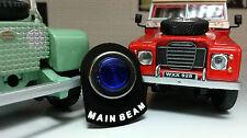 LAND Rover Serie 2 2a 3 LED Illuminato Blu FASCIO ABBAGLIANTE LUCE di Avvertimento Etichetta Scheda