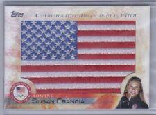 New listing Susan Francia 2012 Topps U.S. Olympic Team & Hopefuls Usa Flag Patch #Flp-Sf