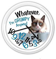 Grumpy Cat Whatever I'm Grumpy Anyway! - Wall Clock - Funny GREAT GIFT