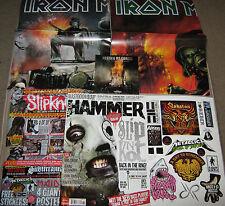 METAL HAMMER 218 June 2011 SLIPKNOT Mastodon IRON MAIDEN POSTERS + STICKERS + CD