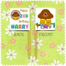 20 PERSONALISED HEY DUGGEE CUP CAKE FLAG Party Pick Food Topper Birthday