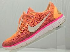 Nike Free RN Distance Running Shoes- Training Orange Athletic Sneakers Women's 9