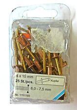 Meister Rivetti Ciechi Rame/Bronzo 4x10 mm Conf. 25  Cod.1761160  New