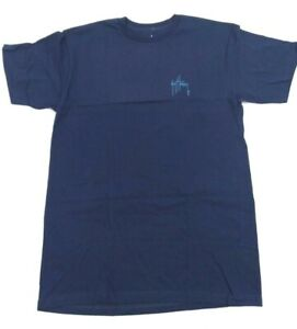 Guy Harvey Men's Short Sleeve Initial Logo Graphic T-Shirt Blue - Size Medium