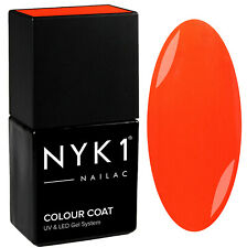 NYK1 Halloween Gel Nail Polish Neon Orange Autumn Bonfire Party UV Nails 10ml