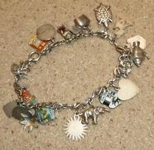 Vintage Silver charm bracelet 22 charms