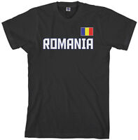 MADE IN ROMANIA Romanian Bucharest Flag CUSTOM BARCODE NUMBERS T-shirt Y15