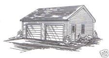 24 x 24 2-Car RD Garage Building Plans w/Vault b, 5 Pitch Roof
