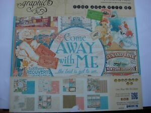 Graphic 45 come away with me 12 x 12 paper pad