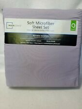 Mainstays Queen Soft Microfiber Sheet Set solid purple