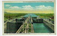 Panama Canal 1937 POSTMARKED POSTCARD
