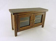 Dollhouse Miniature Walnut Hall Table or TV Stand, CLA10919