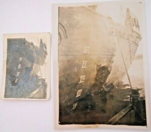 WW2 / Yangtse Incident H.M.S. Black Swan Collectable Shell Damaged Stern Photos