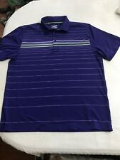 Under Armour Loose Heat Gear Striped Golf Polo Shirt Coldblack Men's Sz Xl (Euc)