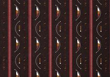 Chocolate Brown Stripe Retro Modern Self Adhesive Vinyl Contact Paper Peel Stick