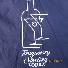 Vintage  Tanqueray STERLING  Vodka T Shirt SIZE ADULT LARGE