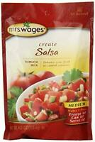 Mrs. Wages Medium Salsa Canning Mix, 4 Oz Packages (Pack of 6)