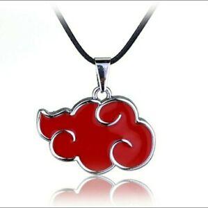 Japanese Anime Cosplay Naruto Akatsuki red cloud sign metal pendant necklace
