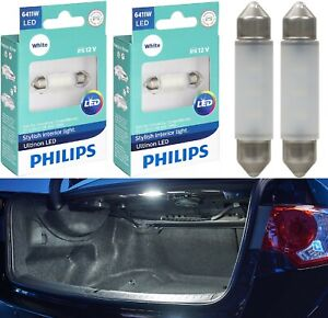 Philips Ultinon LED Light 6411 White 6000K Two Bulbs Trunk Cargo Replace Lamp OE