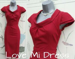 WAREHOUSE 40s/50s Style Wiggle Secretary Dress 10 EU38