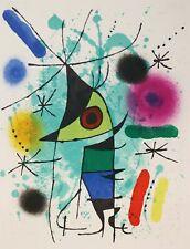 "Lithography Lithographie Litografia Joan Mirò ""Litografo I"" Tavola XI 1972"