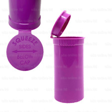 More details for 13/19 dram pop top squeeze pot container smell proof child proof pill grape